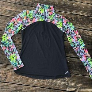 BCG Tru-Wick Floral/Black 1/4 Zip- Stretch
